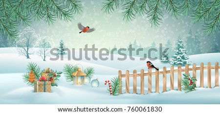 vector christmas winter