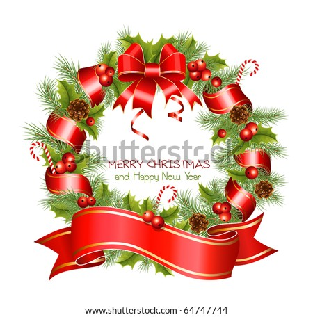 Free Vector Christmas wreath - Download Free Vector Art, Stock ...