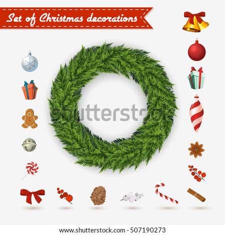 vector christmas wreath on a