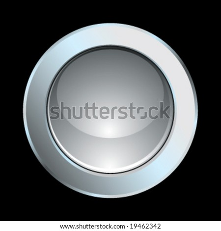 Vector chrome glossy internet icon