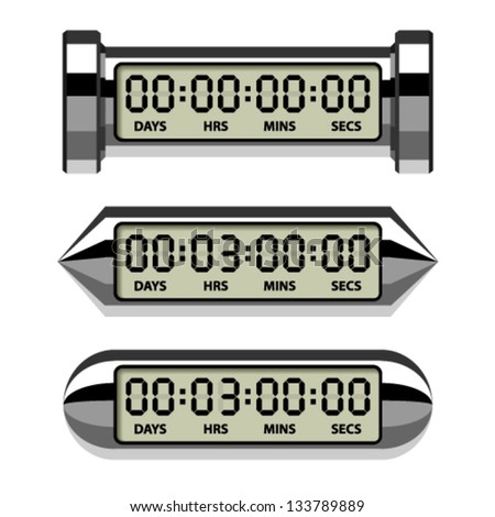 vector chrome LCD counter - countdown timer