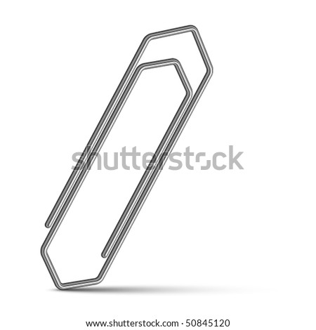 vector chrome paperclip