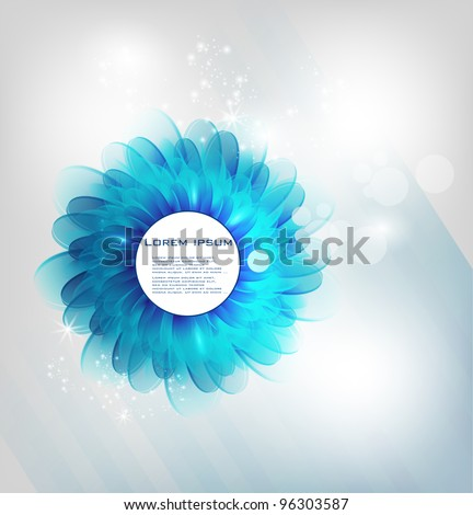 vector chrysanthemum blue