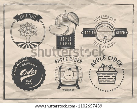 vector cider logos and badges