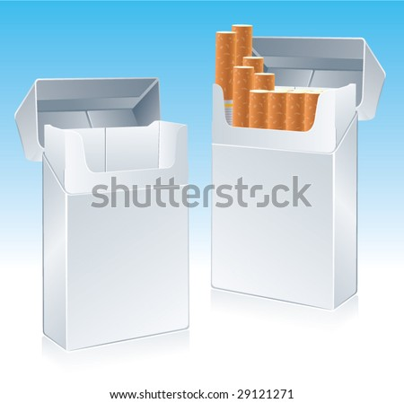 Vector cigarette pack. CMYK ready to print.