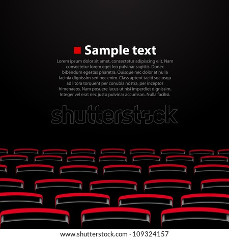 Vector cinema auditorium with and seats. Variant 2