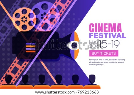 vector cinema festival poster