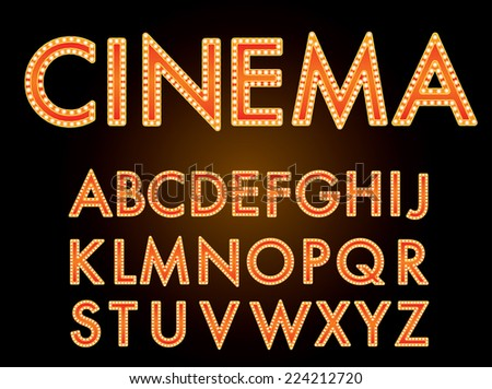 vector cinema font