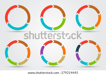 vector circle arrows for