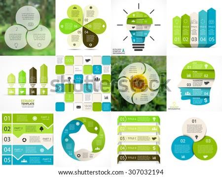 vector circle arrows green eco