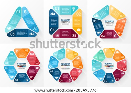 Business diagram circle chart download free vector art stock vector circle arrows infographics set template for cycle diagram graph presentation and round ccuart Images