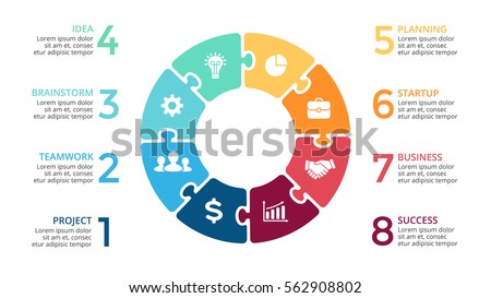 Quebra cabea download vetores e grficos gratuitos vector circle arrows puzzle infographic cycle diagram jigsaw graph presentation chart business ccuart Image collections