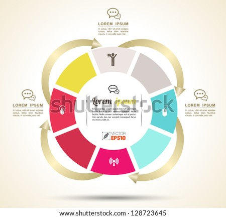 vector circle business concepts with icons can use for info graphic loop business business concepts