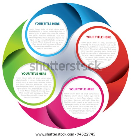 Vector circle graph background concept for text