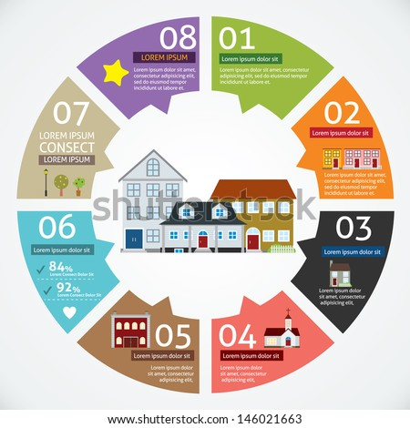 vector circle house concepts