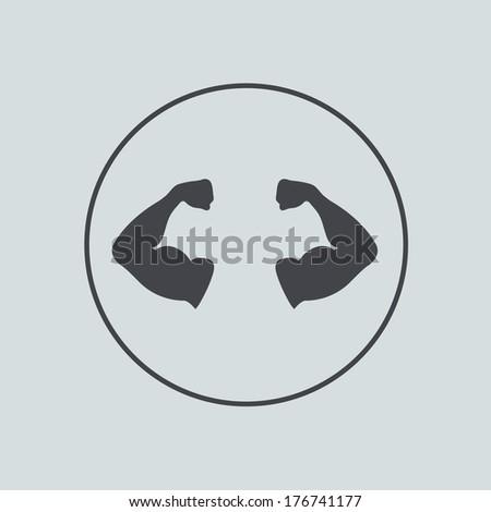 vector circle icon on gray