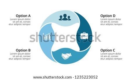 Vector circle infographic, cycle diagram, round graph. Water save slide presentation chart. Ecology nature concept with 4 options, parts, steps, processes. Stock photo ©