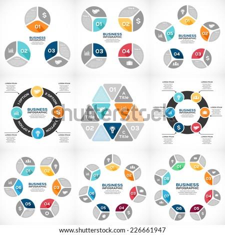 vector circle infographics set