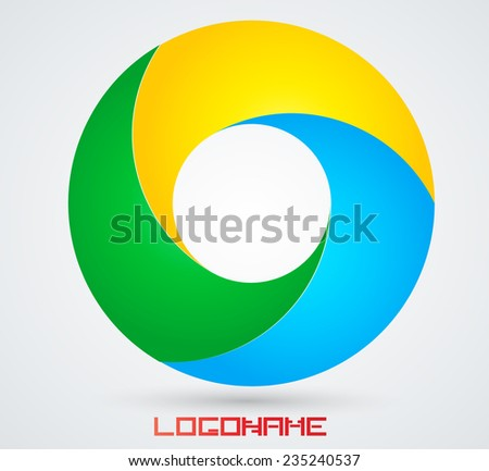 vector circle logo design