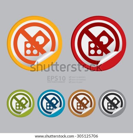 vector   circle no gambling  no