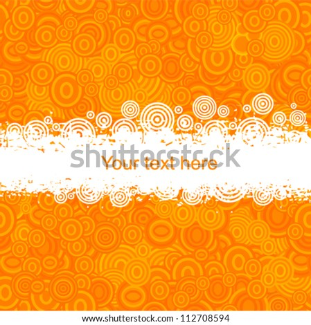 Vector circle pattern - imitation of popcorn with place for text (grunge style)