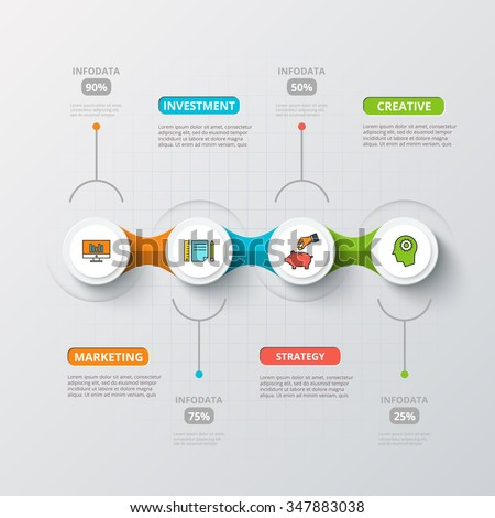 Vector circles for infographic. Template for diagram, graph, presentation and chart. Business concept with 4 options, parts, steps or processes. Abstract background.