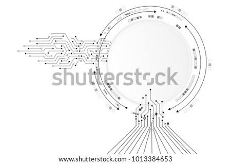 Background Of Abstract Technology Circuit Board Network Lines
