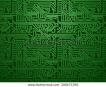 vector circuit board green