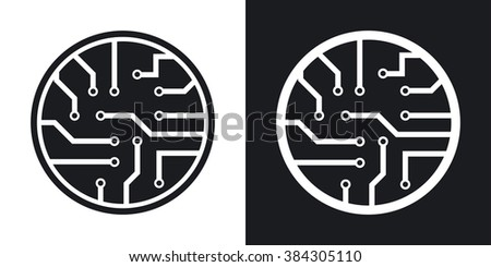vector circuit board icon two