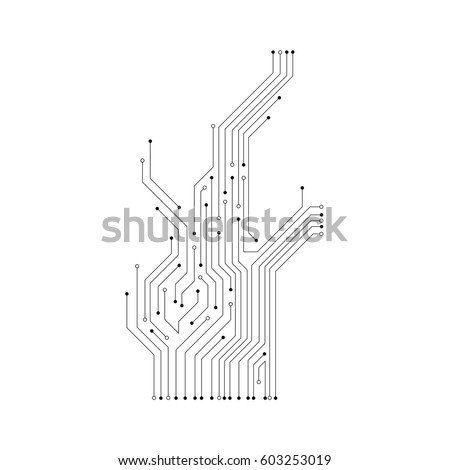 vector circuit board pattern