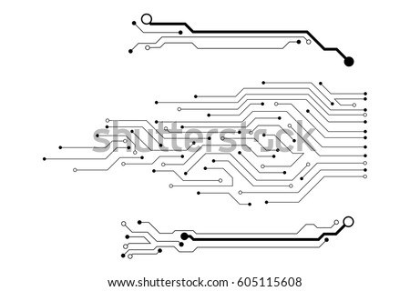 vector circuit board pattern...
