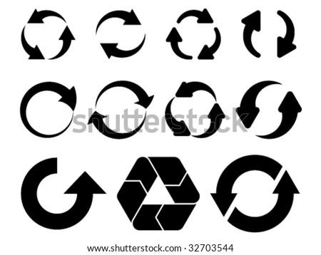 vector circular arrows #32703544