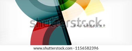 Vector circular geometric abstract background. Trendy illustration