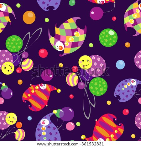 vector circus pattern with