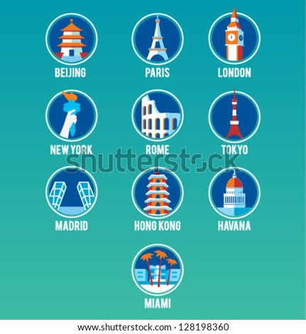 Vector Cities Icon Set
