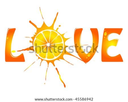 vector Citrus background - stock vector