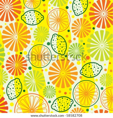 vector citrus background