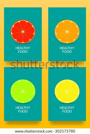 vector citrus slices healthy