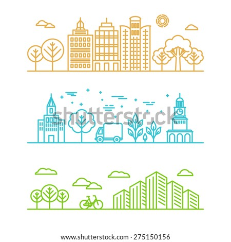 vector city illustration in