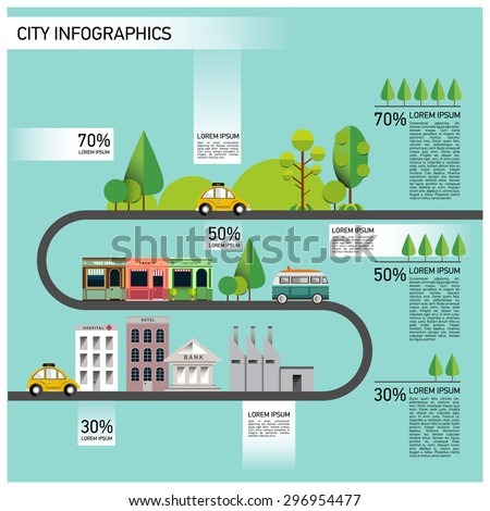 vector city info graphic