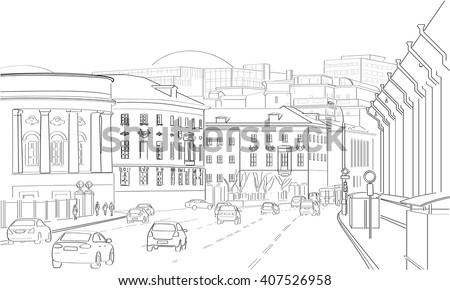 vector city landscape