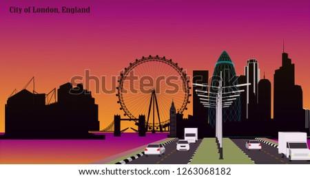 vector city london  england