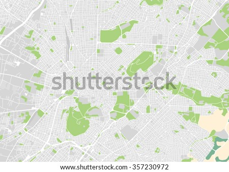 vector city map of athens