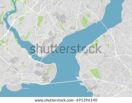 vector city map of istanbul