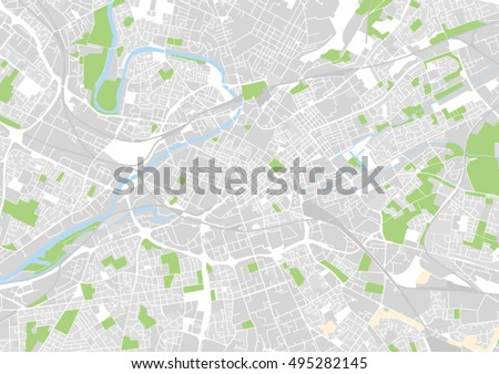 vector city map of manchester
