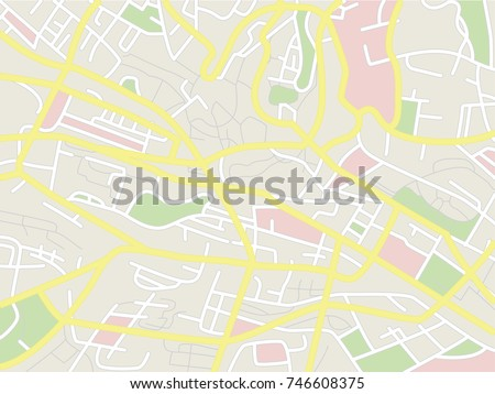 Vector city map. Simple map design.