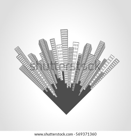 vector city scene. cityscape....
