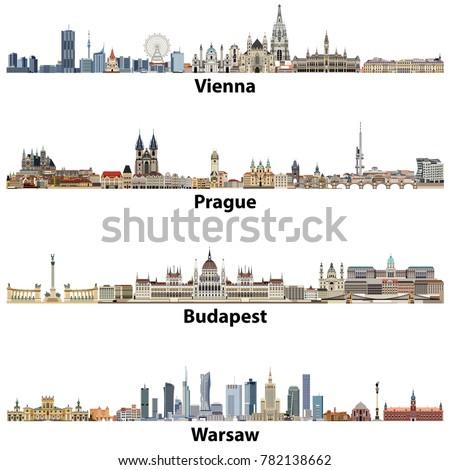 vector city skylines of vienna