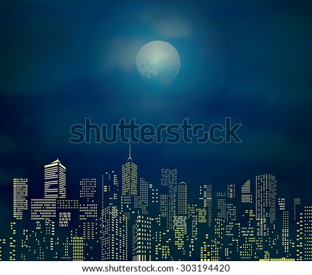 vector city skylines with