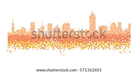vector cityscape abstract